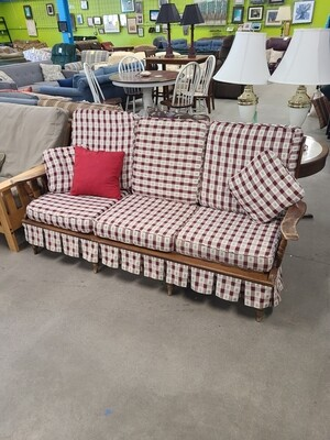 Checkered Cabin Couch