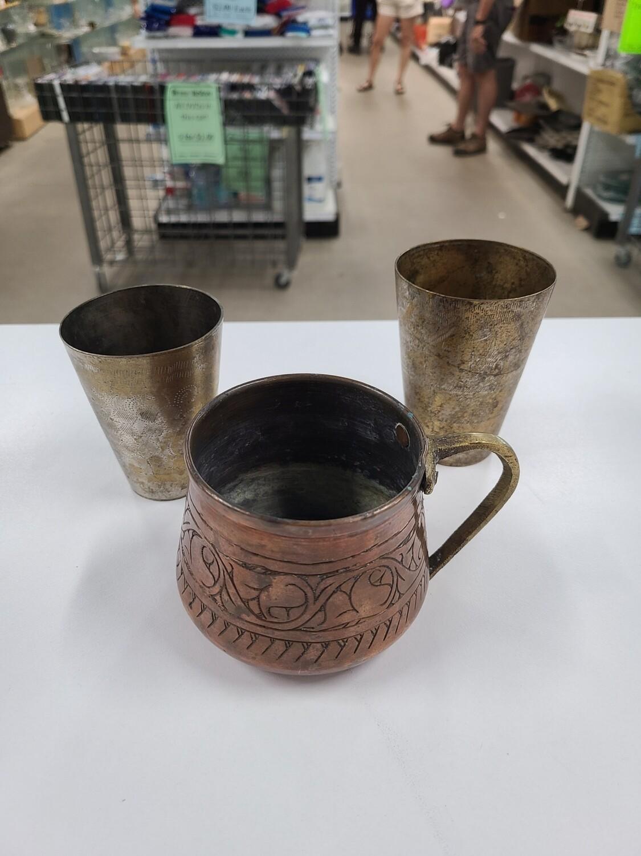 Copper Mug w/ 2 Cups