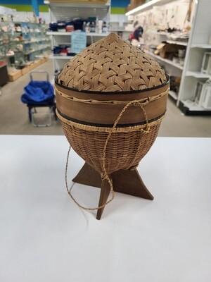 Small Hanging Wicker Basket