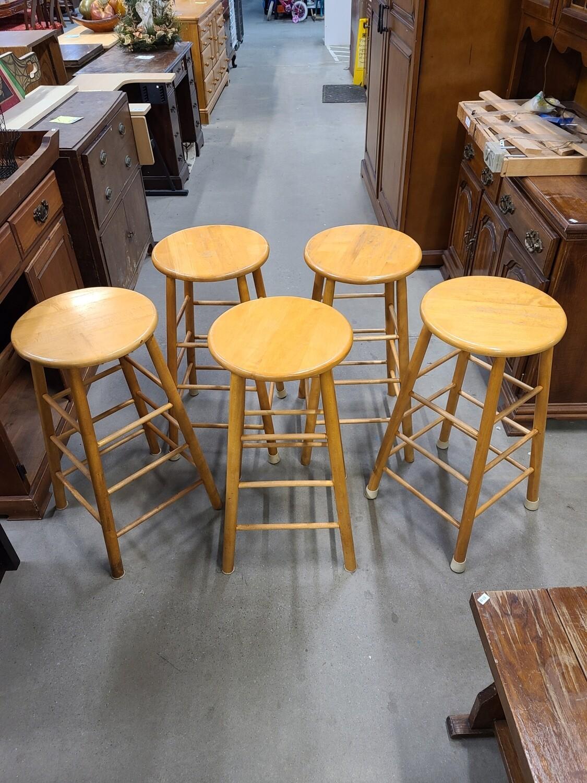 Wooden Bar Stools (5)