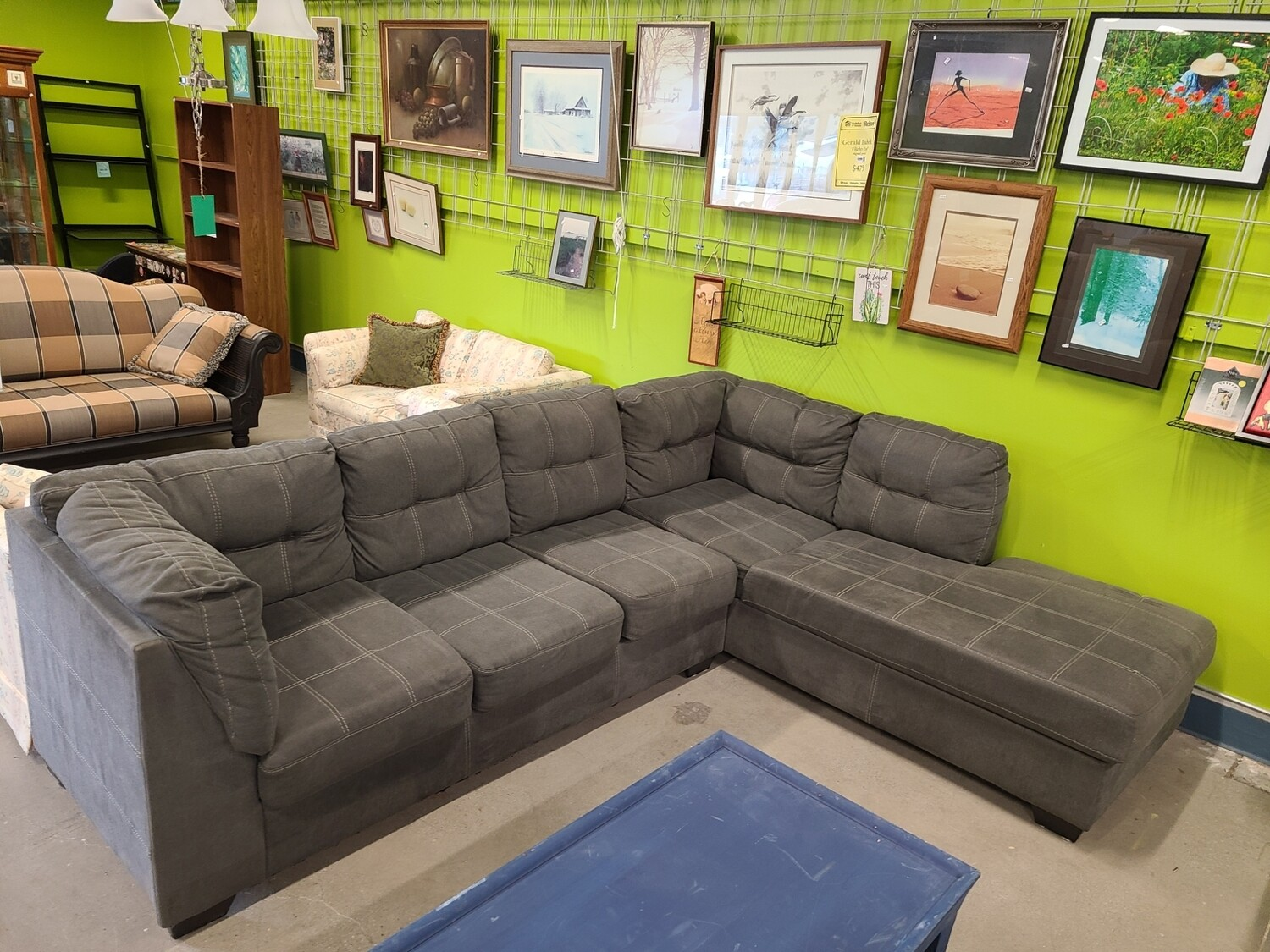 Grey Sofa with Chaise Lounge