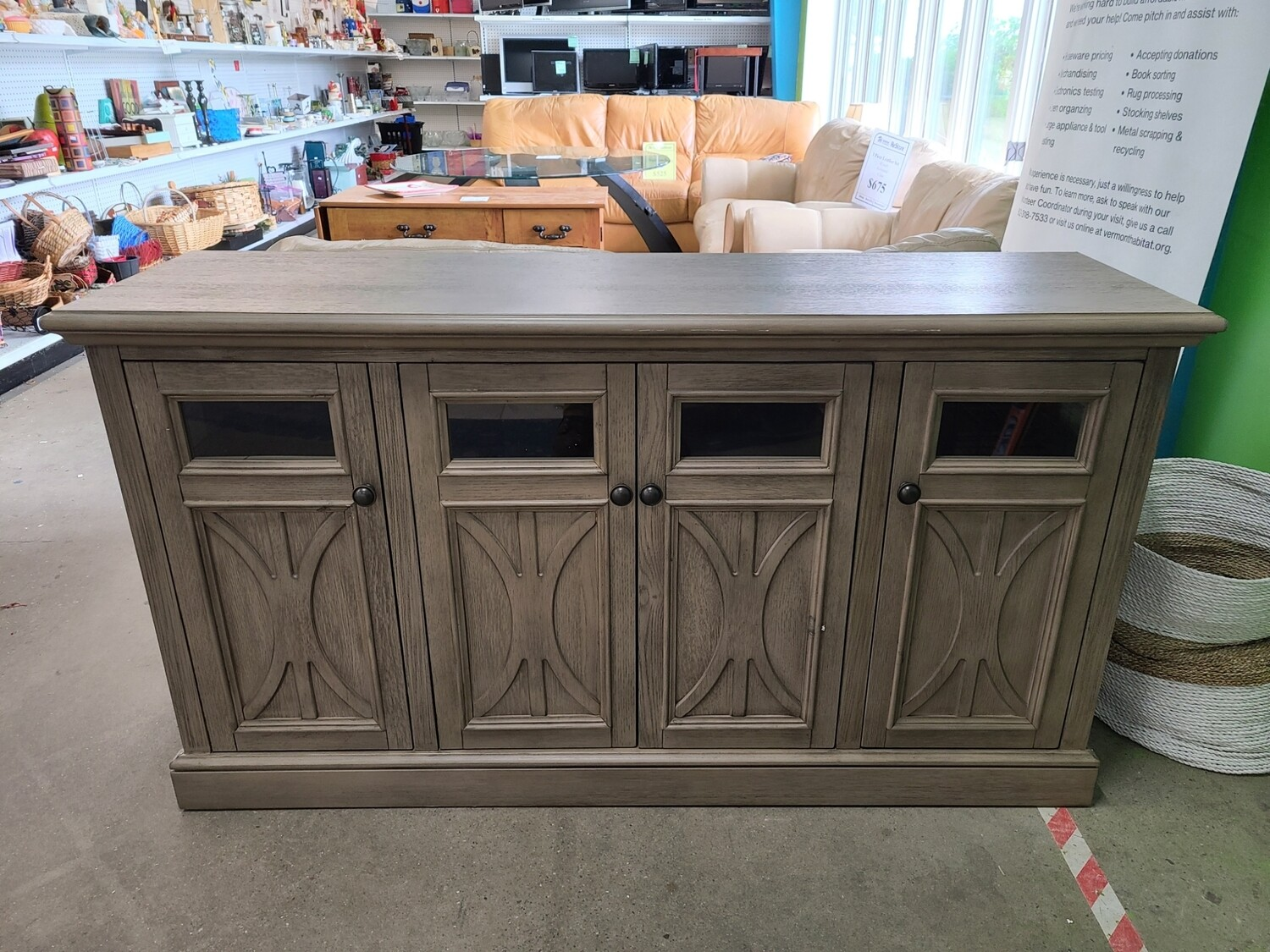 """Broyhill Tuscany Collection 63"""" 4 Door TV Stand"""