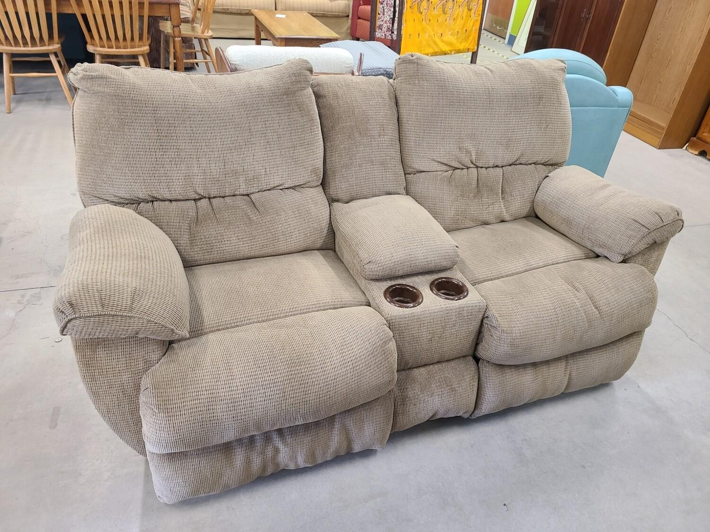 Brown Double Recliner Sofa2