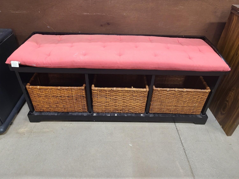 Bench w/ Wicker Baskets