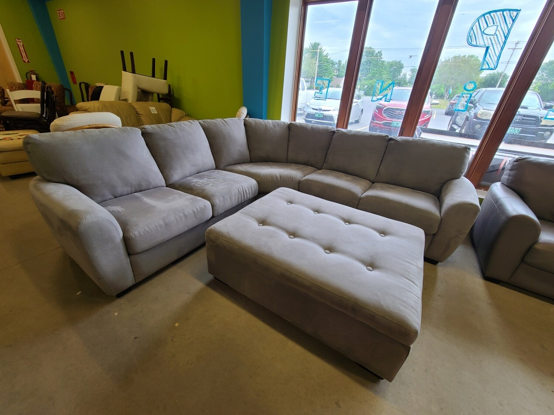 Echosuede Charcoal Sectional Sofa