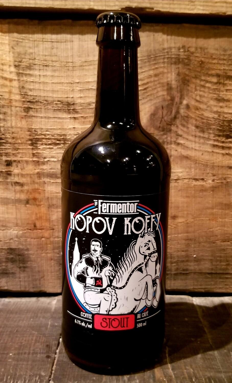 Kopov Koffy (Stout au Café, 6.1%) - Caisse de 12 Bouteilles de 500 ml  55.00$