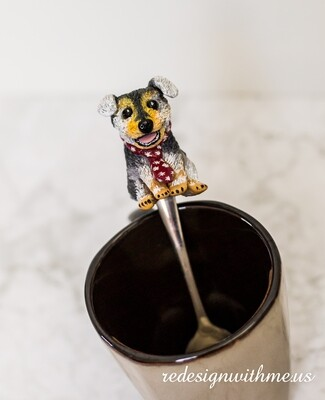 Pet Dog Portrait stirring spoon, magnet, ornament, broach
