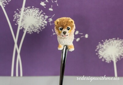 Celebrity Dog Portrait spoon - Boo the Pomeranian stirring spoon - gone but not forgotten