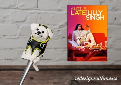 Celebrity Dog Portrait spoon - Scarbro Lilly Singh's dog