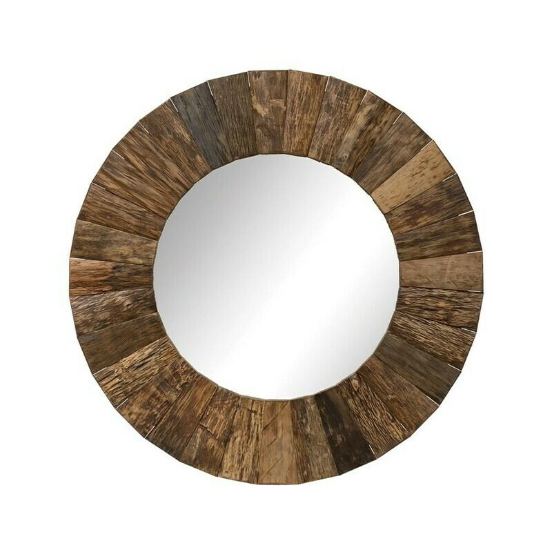 DF2798 47'  Round Wood Mirror