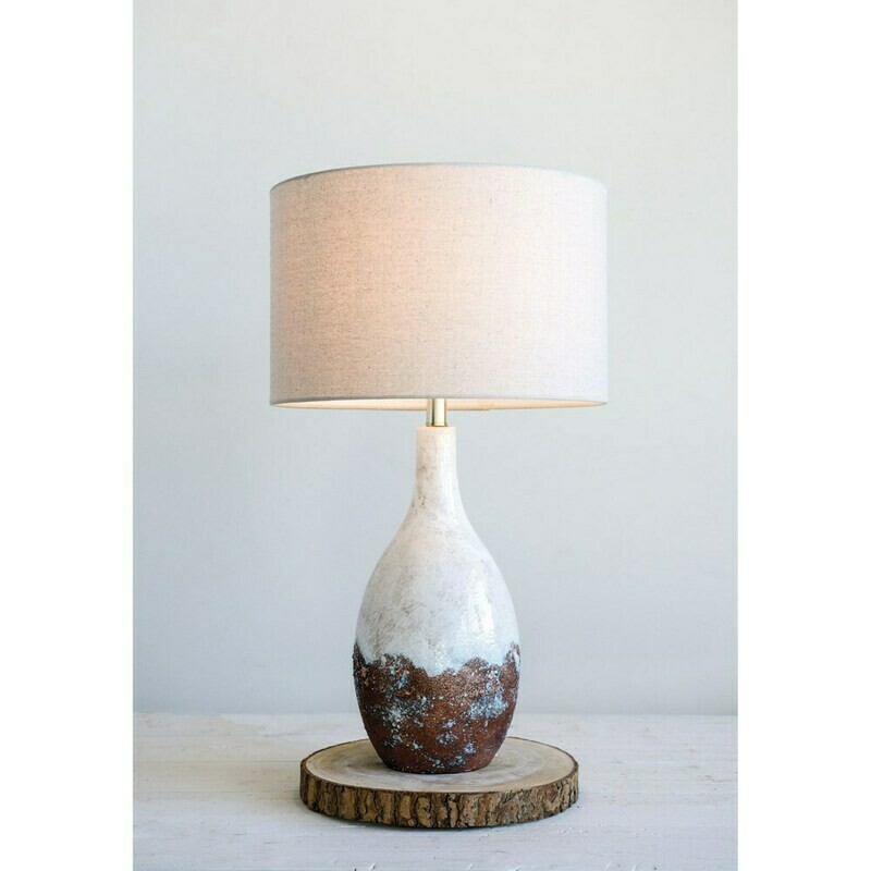 DA9106 White Table Lamp 5' x 28