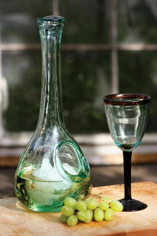 KLU1230 Ice Pocket Glass Decanter