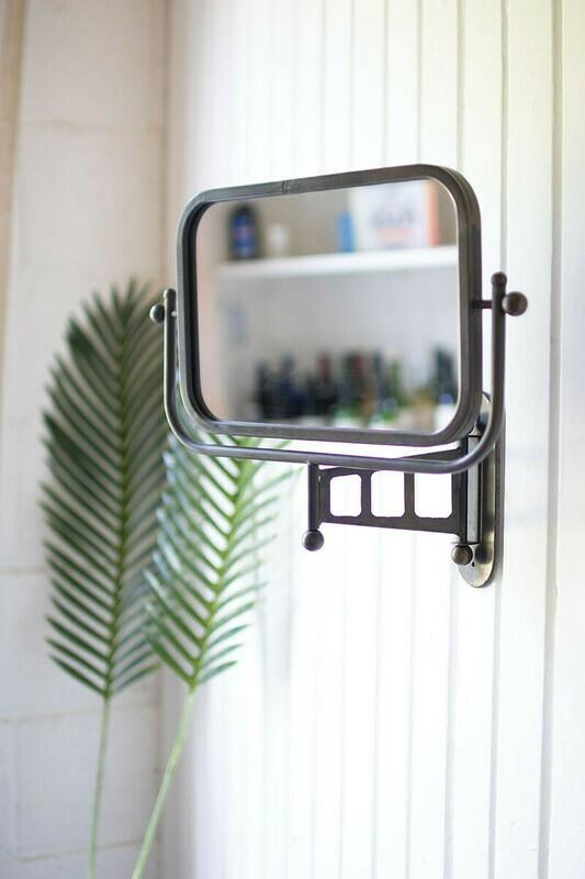 Rotating metal framed wall mirror CLA1285