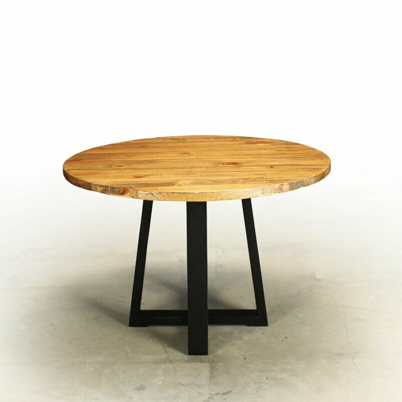 Boca Coastal Dune Round Dining Table Hand Crafted From Reclaimed Wood CHB2039