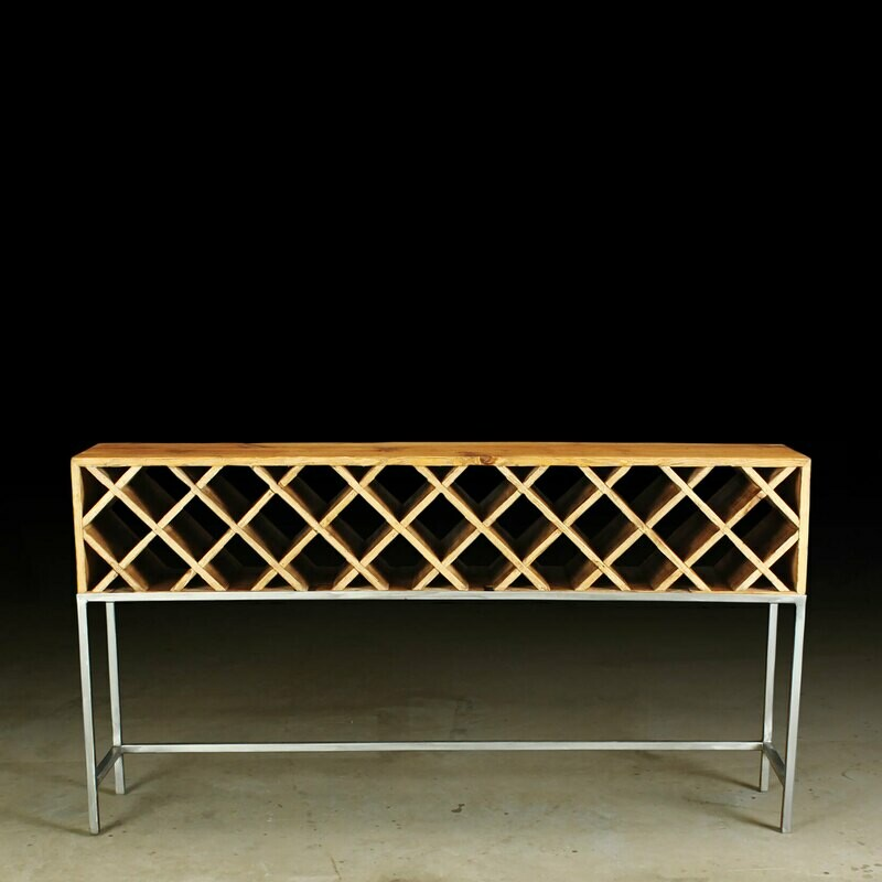 Montecito Las Canoas Wine Console Hand Crafted From Reclaimed Wood