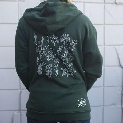 Botanical Hoodie Zip Up
