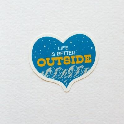 Life is Better Outside Sticker