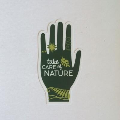 Nature Hand Sticker