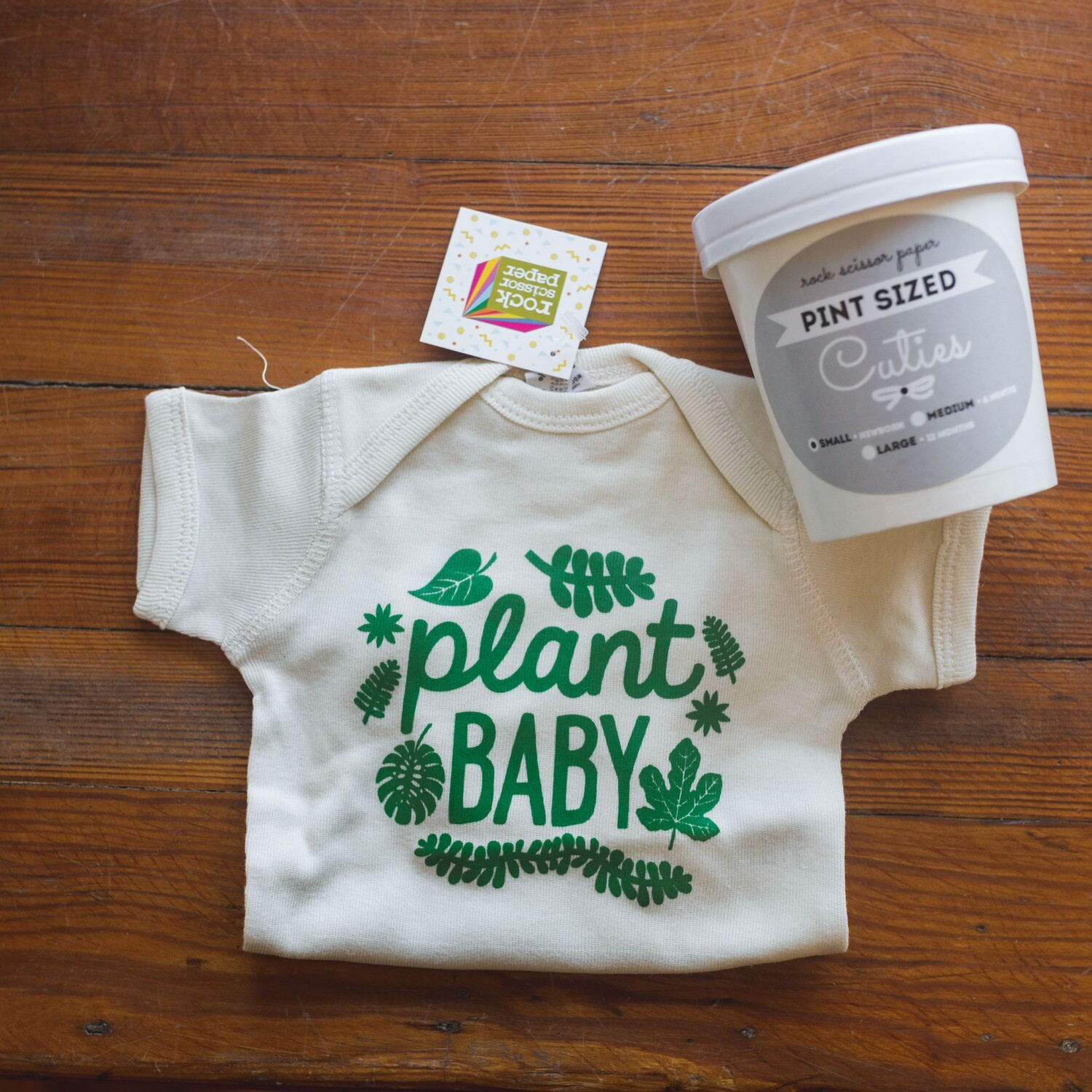 Plant Baby Onesie - Packaged