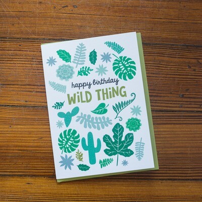 Wild Thing Birthday Card