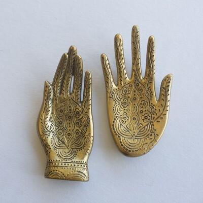 Engraved Hand Dish