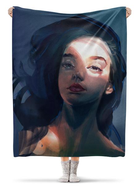 Плед флисовый 130×170 см Light and shadow