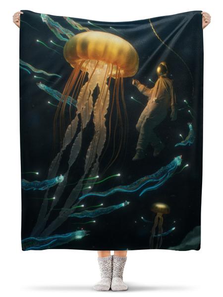 Плед флисовый 130×170 см Jellyfish