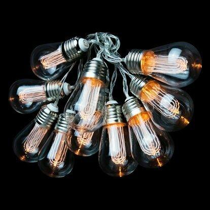 Гирлянда лампы филомента 10 шт