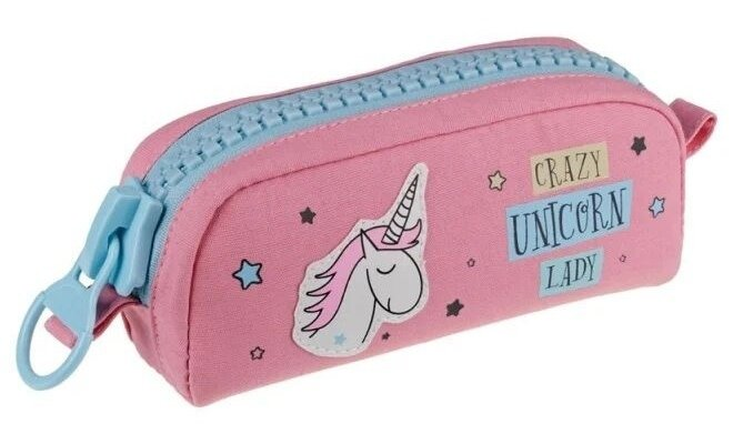 Berlingo Пенал мягкий Crazy unicorn
