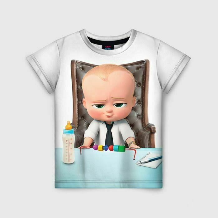 Детская футболка 3D «Boss Baby»