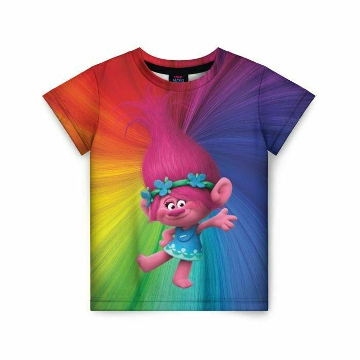 Детская футболка 3D «Розочка тролли»
