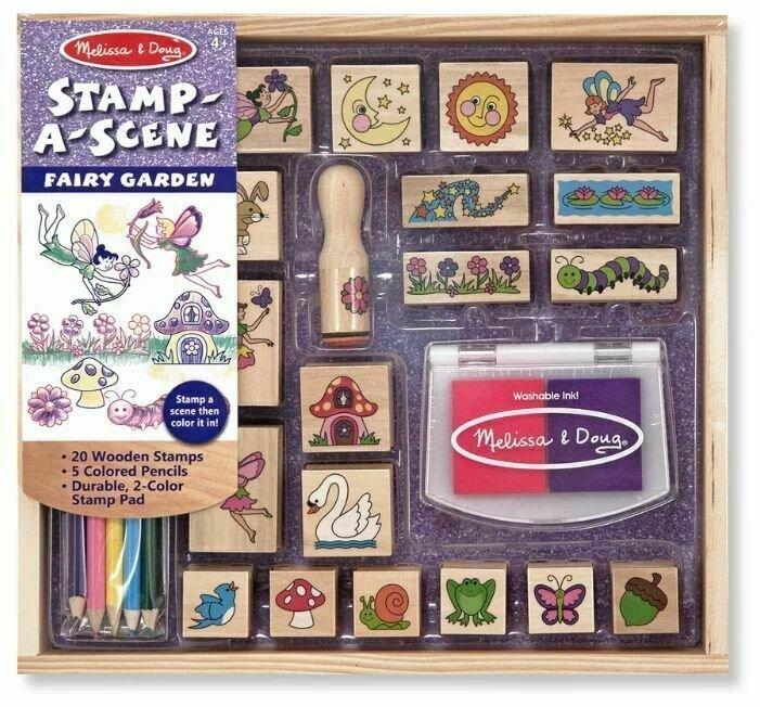 Melissa & Doug Набор для рисования Stamp-a-Scene Fairy Garden