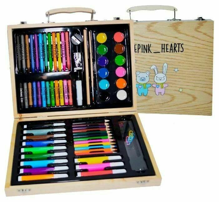 Blue Pink Hearts Набор для рисования Юный художник маленький