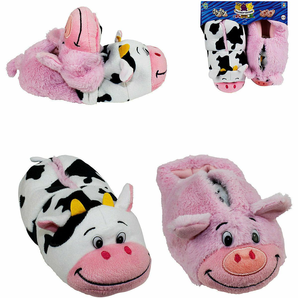 Вывертапки 1Toy Корова-Свинья, 28-30 см