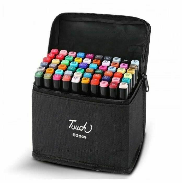 Набор двухсторонних фломастеров Touch Cool (60 цветов)