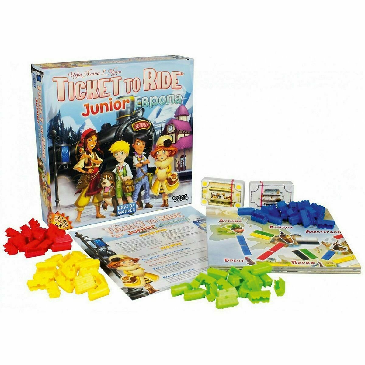 Настольная игра Hobby World Ticket to Ride Junior: Европа от Hobby World