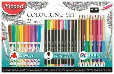Maped Colouring Set Набор для рисования 33 предмета