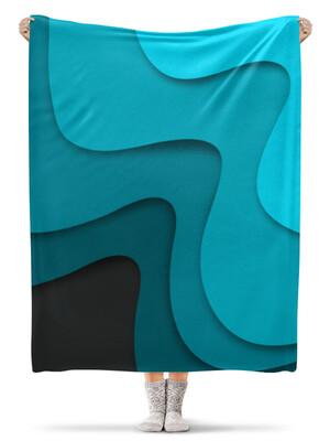 Плед флисовый 130×170 см Волнистый