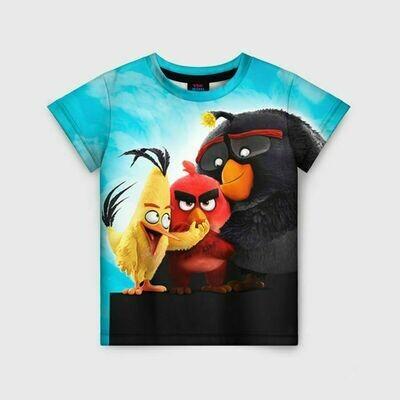 Детская футболка 3D «Птички»