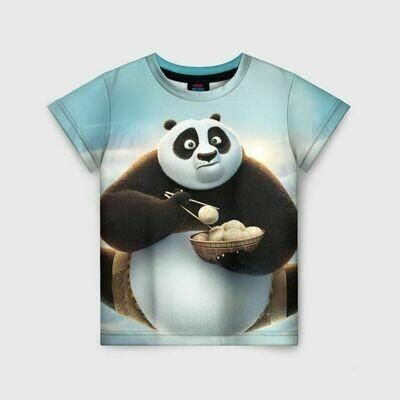 Детская футболка 3D «Кунг фу панда»