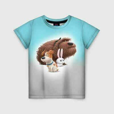 Детская футболка 3D «Тайная жизнь»