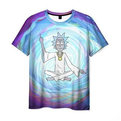 Мужская футболка 3D «Rick in nirvana»