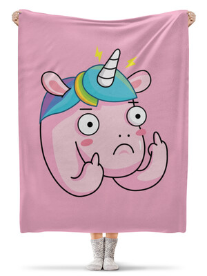 Плед флисовый 130×170 см Unicorn / Единорог