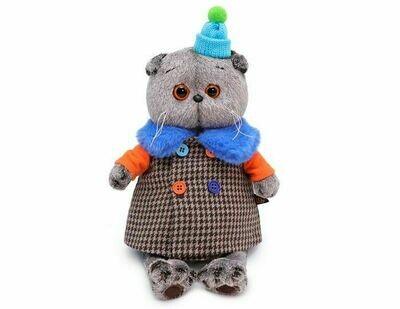 Мягкая игрушка Budi Basa Басик в комбинированном пальто 22 см
