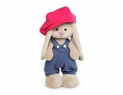 Мягкая игрушка Budi Basa Зайка Ми в комбинезоне с кепкой 25 см