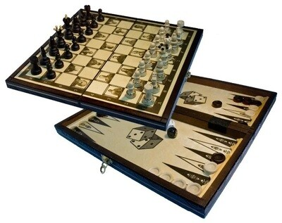 Шахматы шашки нарды Madon Империя 3в1