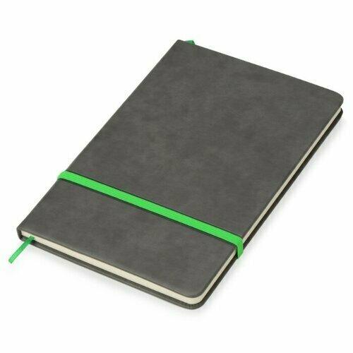 Блокнот Oasis Color серый/зеленое яблоко, A5, 80 листов