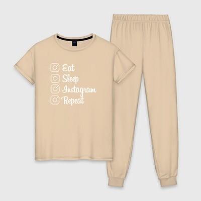 Пижама Eat, sleep, Instagram, repeat