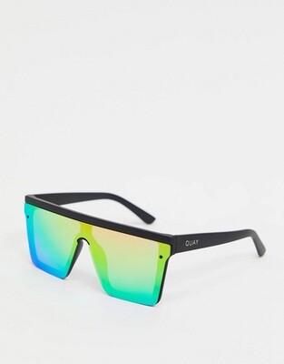 Черные солнцезащитные очки с разноцветными стеклами Quay Australia