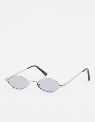 Овальные солнцезащитные очки в стиле 90-х с серыми стеклами ASOS DESIGN